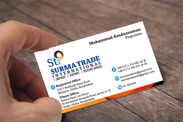 Surma Trade International Business Card